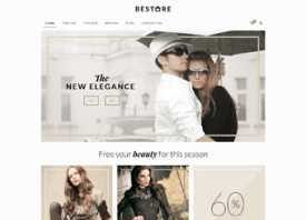 betheme online shop demo website